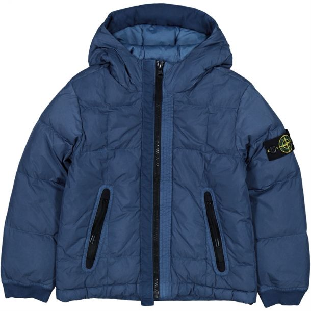 Boys Blue Crinkle Down Jacket