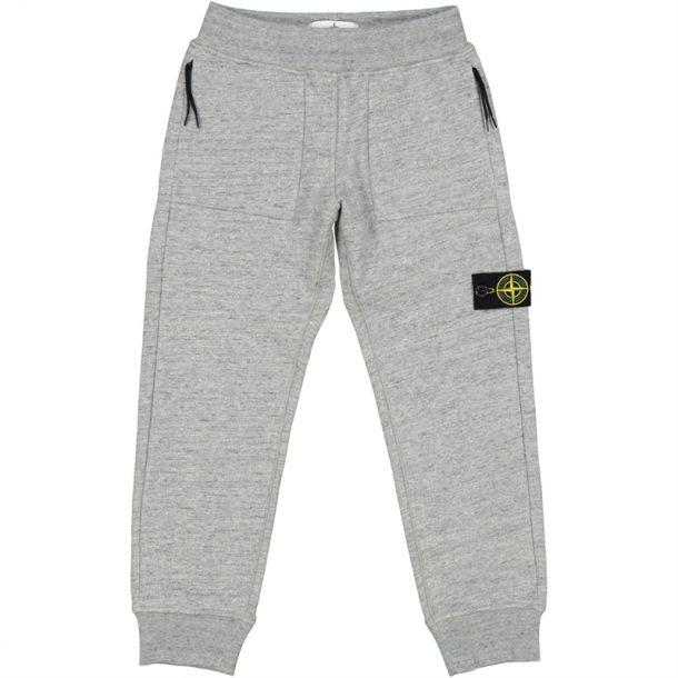 Boys Grey Marl Branded Joggers