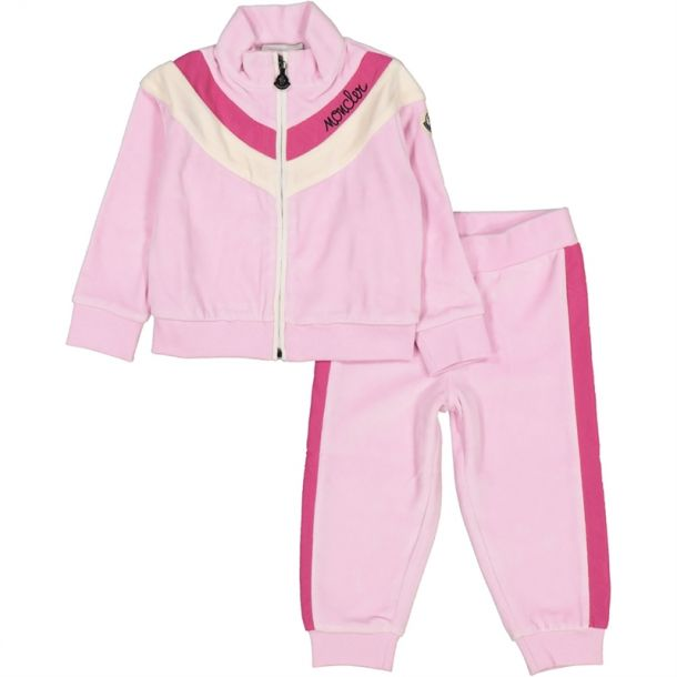 Baby Girls Pale Pink Tracksuit