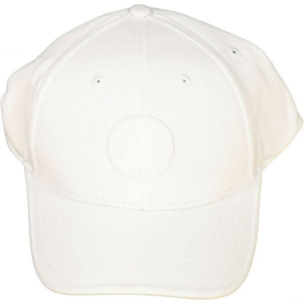 Boys White Branded Cap