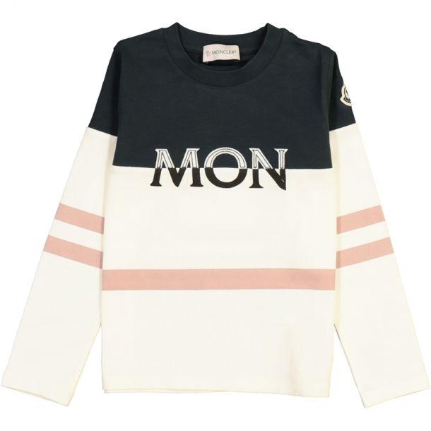 Girls Ivory & Navy T-shirt