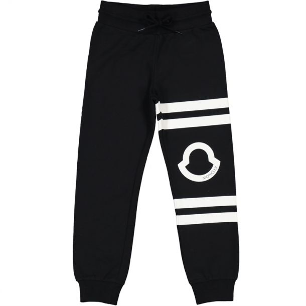 Girls Black Cotton Track Pants