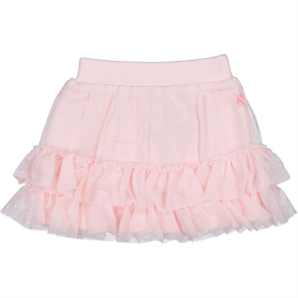 Girls Pink Ruffle Skirt