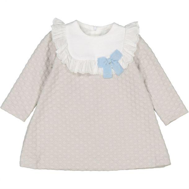 Baby Girls Grey Spotty Dress
