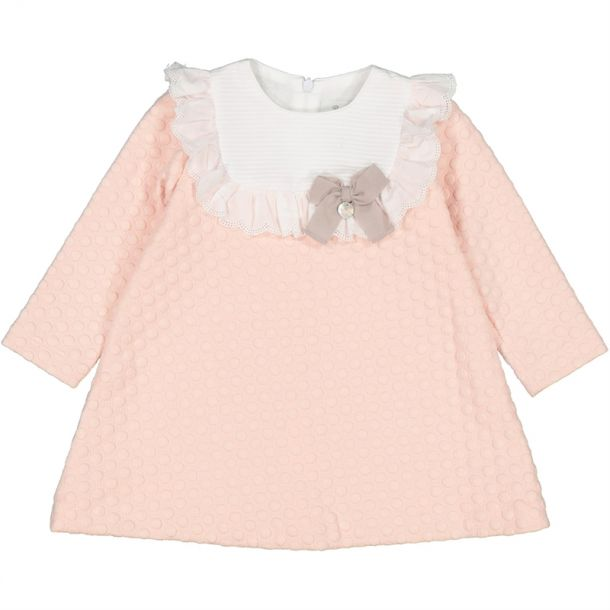 Baby Girls Pink Spotty Dress