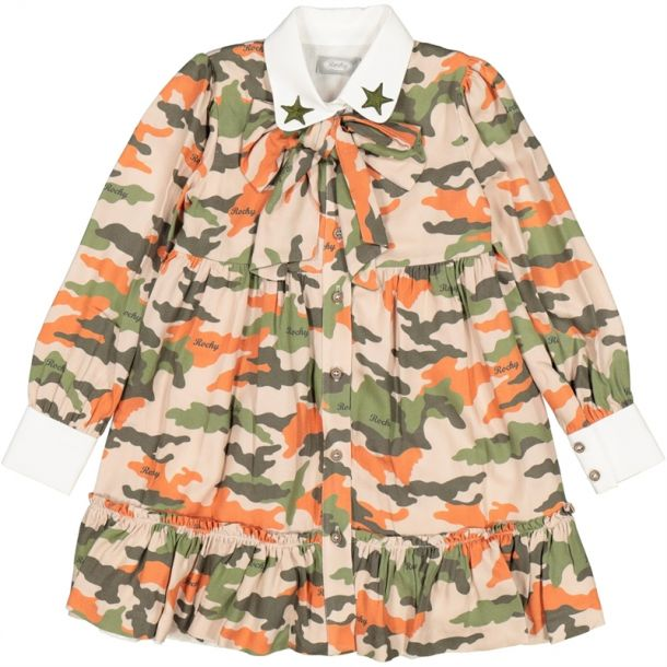 Girls Camo Bow Dress