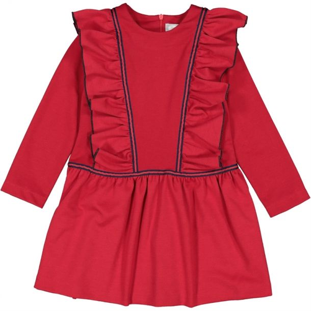 Girls Jersey Frill Dress