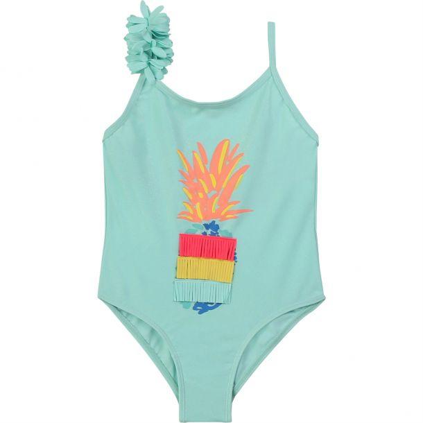 Girls Pineapple Print Swimsuit