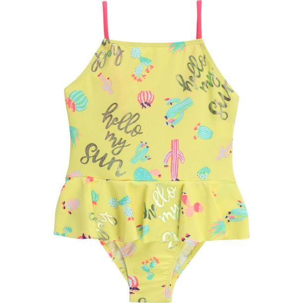 Girls Yellow Cactus Swimsuit