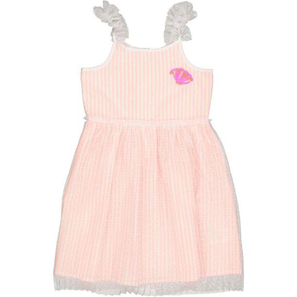 Girls Stripe & Tulle Dress