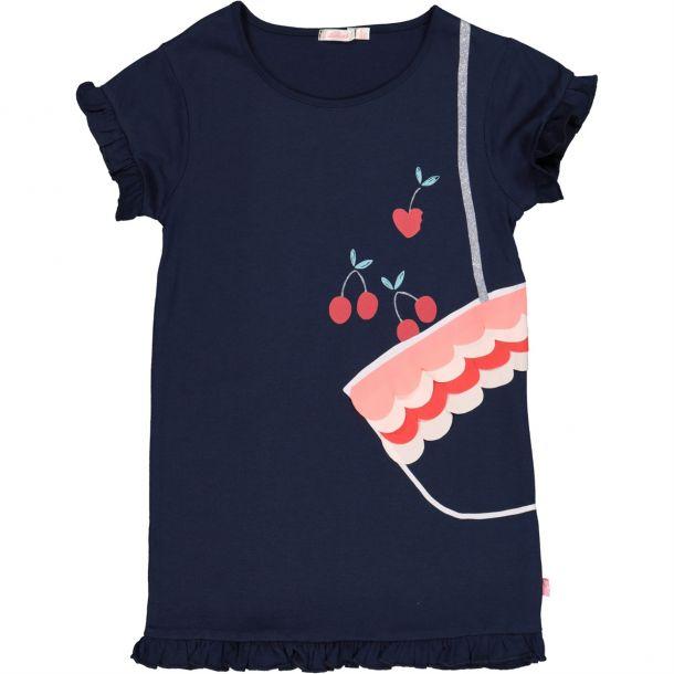 Girls Cherry Bag Print Dress