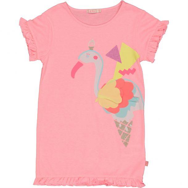 Girls Flamingo Print Dress