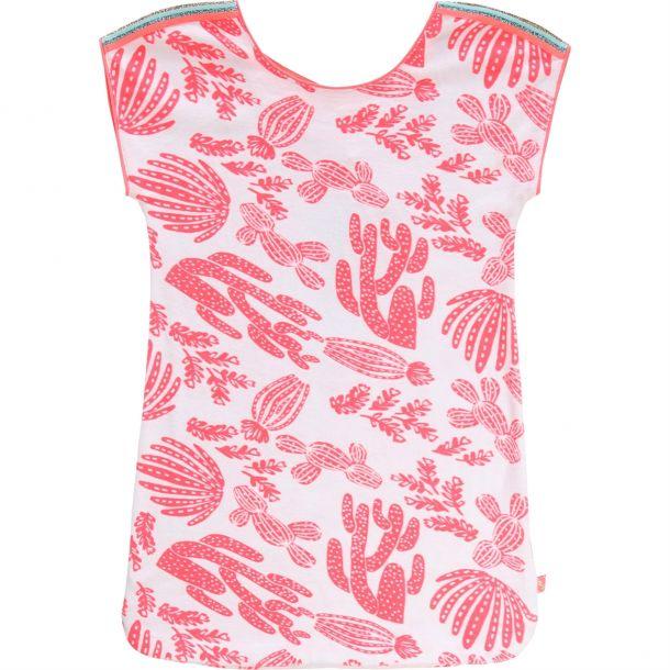 Girls Cactus Print Terry Dress