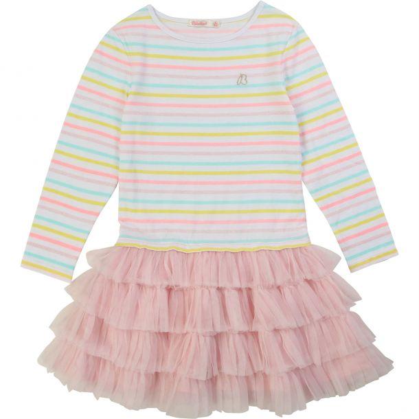 Girls Stripe Tulle Tutu Dress