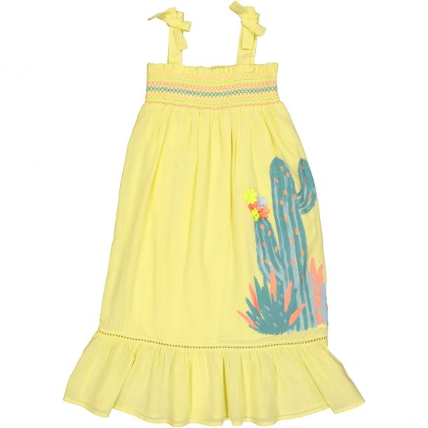Girls Voile Cactus Maxi Dress