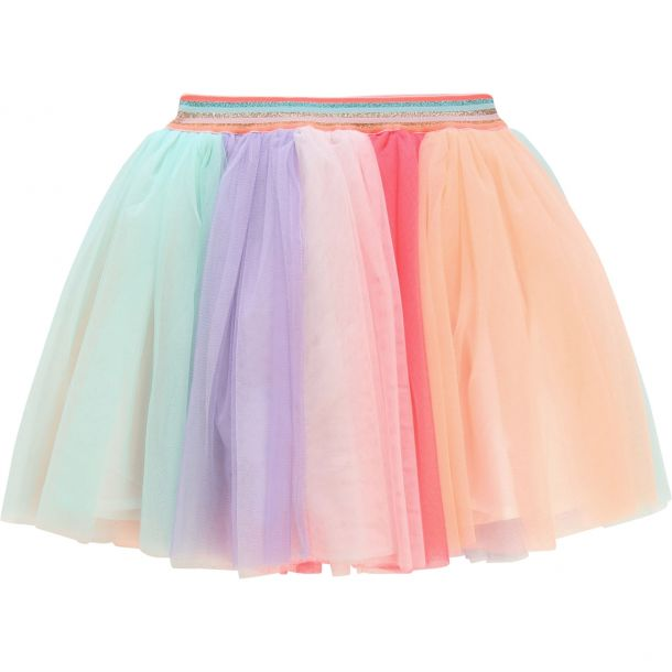 Girls Rainbow Tulle Skirt