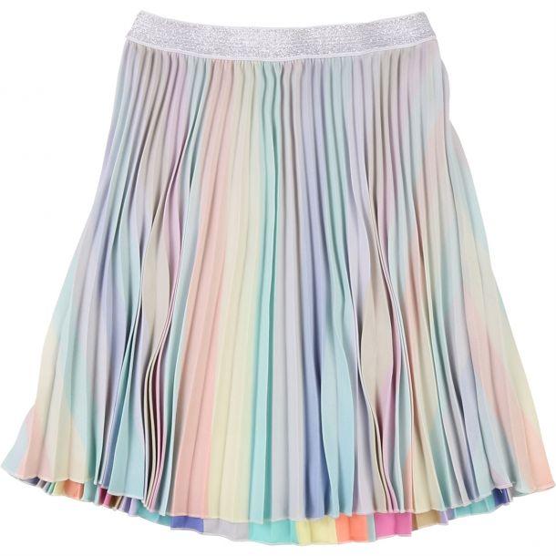 Girls Rainbow Pleated Skirt