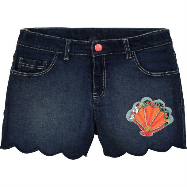 Girls Sequin Seashell Shorts
