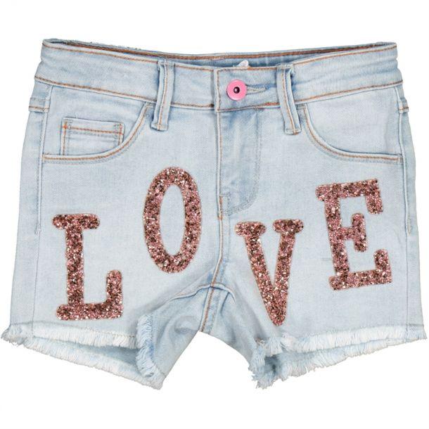 Girls 'love' Applique Shorts