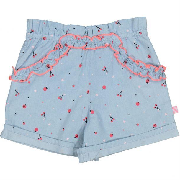 Girls Cherry Chambray Shorts