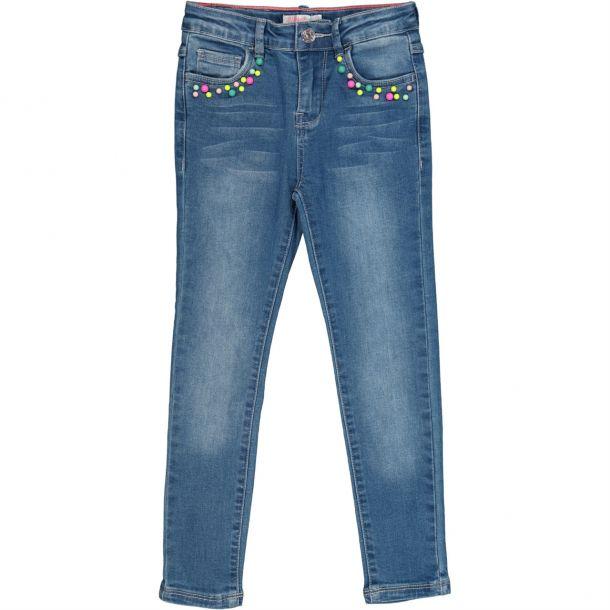 Girls Beaded Pocket Jeans