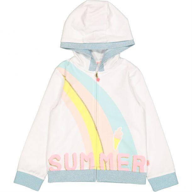 Girls Summer Print Zip Up