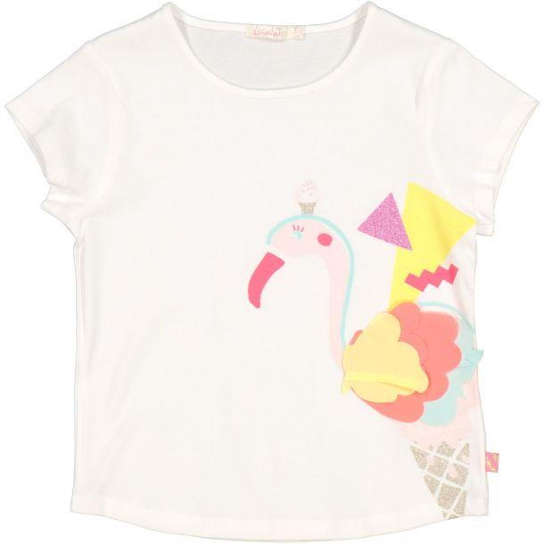 Girl Flamingo Applique T-shirt