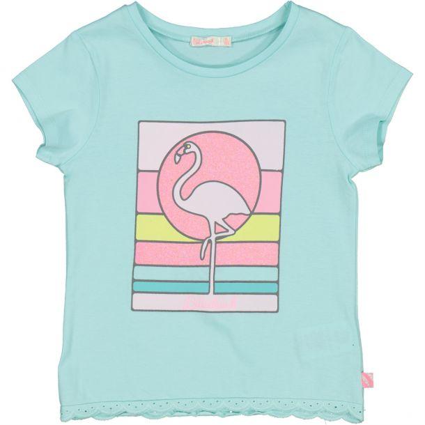 Girls Flamingo Print T-shirt