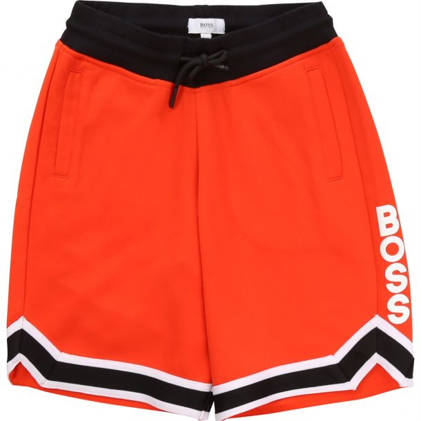 Boys Red Jersey Logo Shorts.