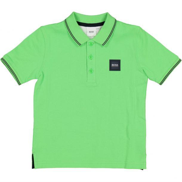 Boys Green Branded Polo