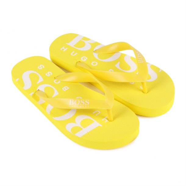 Boys Yellow Flip Flops