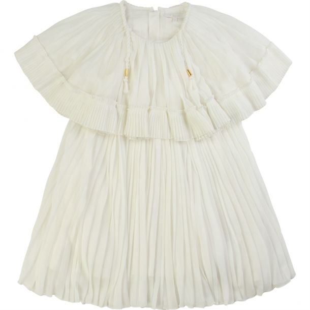 Girls Mini Me Pleated Dress