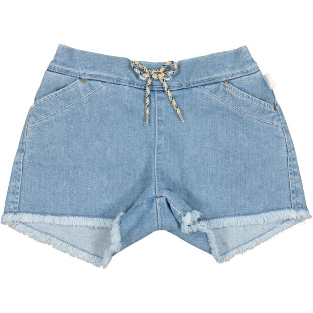 Girls Fringed Denim Shorts