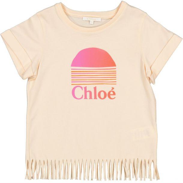 Girls Chloe Branded Fringe Top
