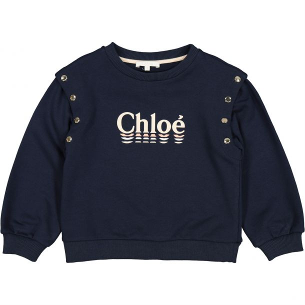 Girl Branded Gold Button Sweat