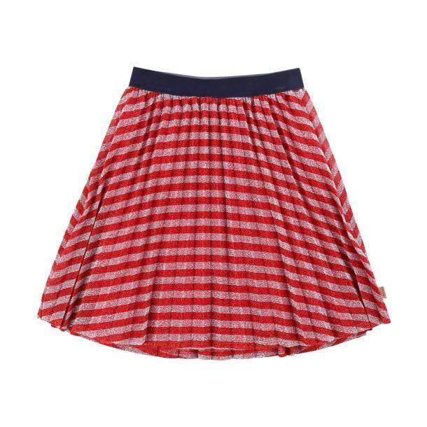 Girls Stripe Pleated Skirt