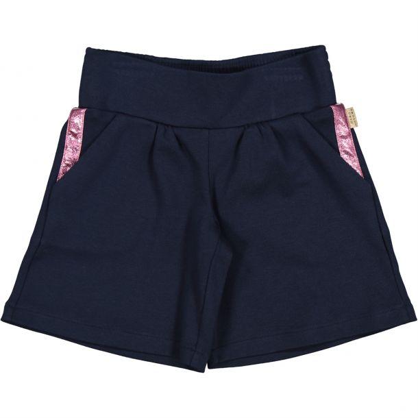 Girls Navy Jersey Shorts