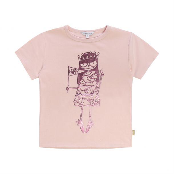 Girls Metallic Print T-shirt
