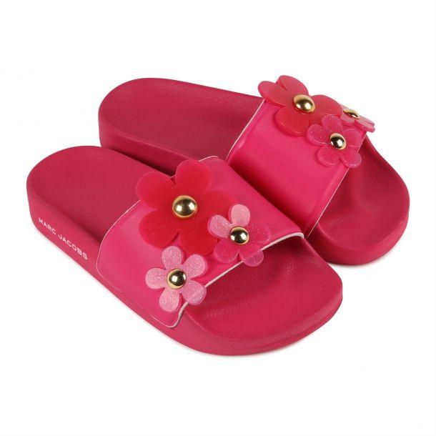 Girls Pink Daisy Slide