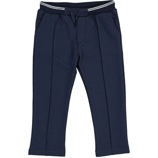 Baby Boys Navy Jersey Trousers