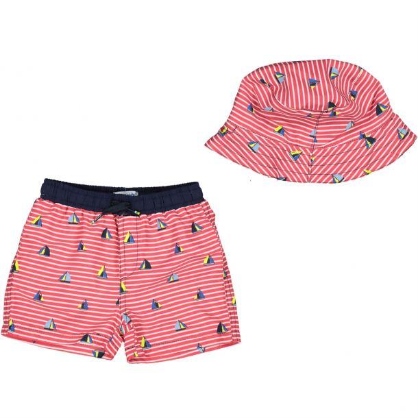 Baby Boys Red Hat Swim Shorts