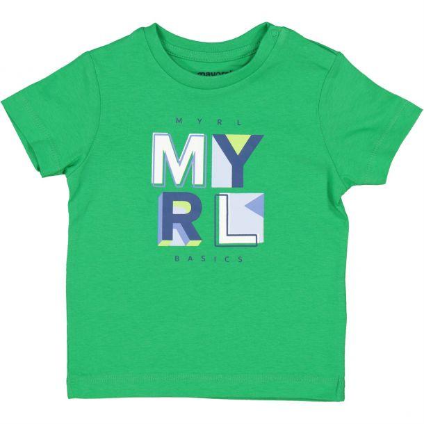 Baby Boys Green Logo T-shirt
