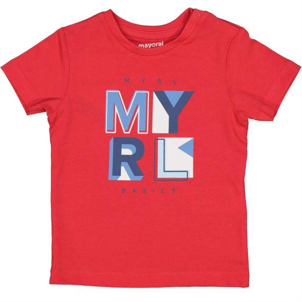Baby Boys Red Logo T-shirt