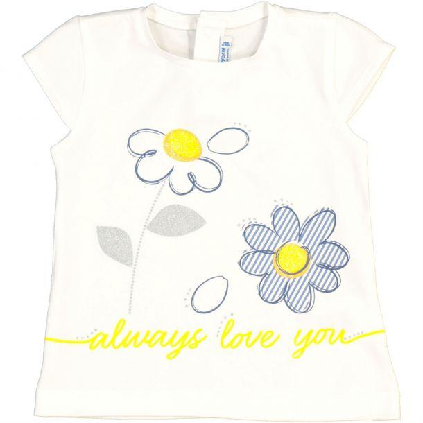 Baby Girls Daisy Print T-shirt