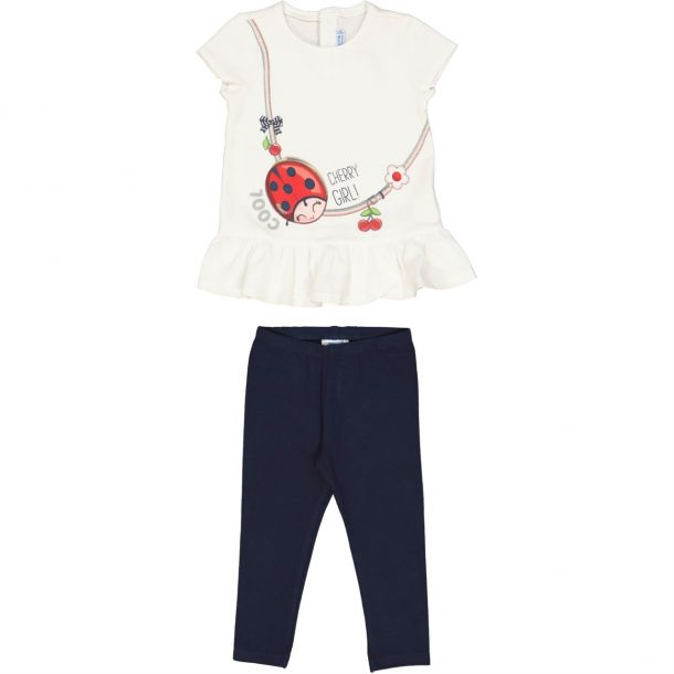 Baby Girls Ladybird Top & Leggings