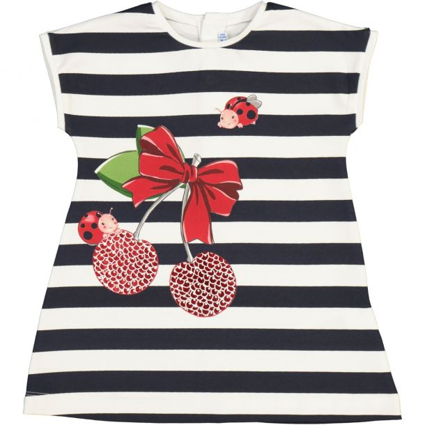 Baby Girls Cherry Stripe Dress