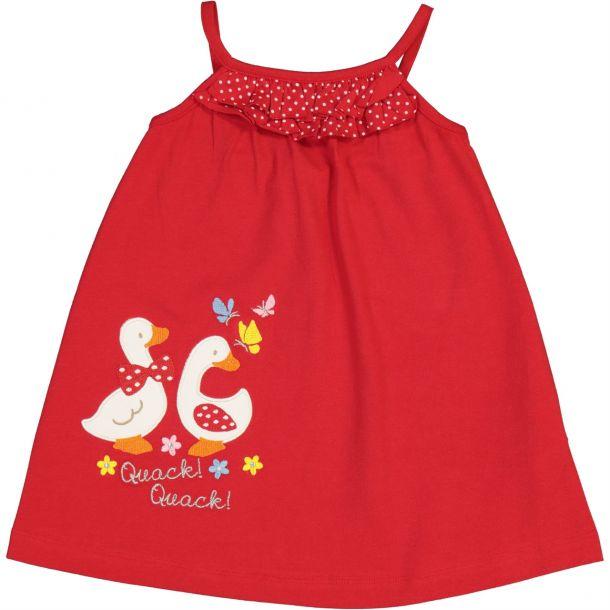 Baby Girls Red Jersey Dress