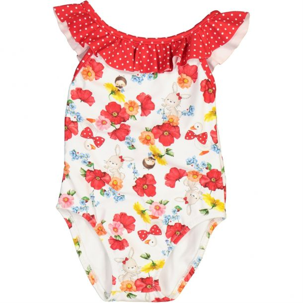 Baby Girls Bunny & Duck Swimsuit