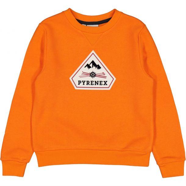 Boys Orange Logo Sweat