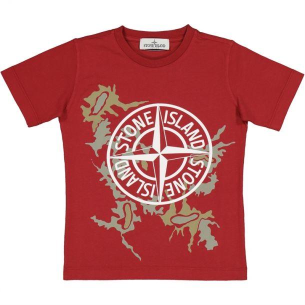 Boys Red Camo Compass T-shirt